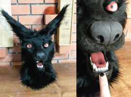 Black wolf up close  :SOLD: by FoxTailCosplay