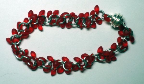 Red Dangly Bracelet by polybag