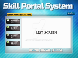 Skill Portal System System Administrator Page by isaacmark