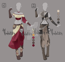 :: Adoptable Outfit 03: AUCTION  CLOSED :: by VioletKy