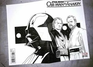 Anakin Obi Wan and Darth