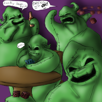 Lots of Oogie- COLORED by R2ninjaturtle