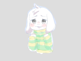Precious Little Asriel by little-x-flower
