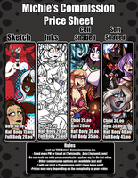Michie Commission Price Sheet :2016: :CLOSED: by TwistedDisaster