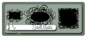 Lg Scroll, Floral Masks by wolfgrrlone
