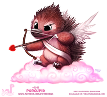 Daily Paint 1911# Porcupid by Cryptid-Creations