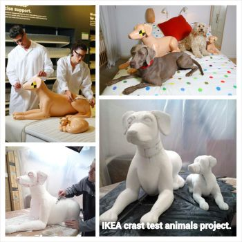 Ikea store Crash Test Animals campaign. by davidfield
