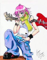 Guitar Girl By Jlego by flcl