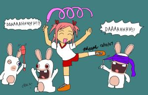 Makie and the Rabbids by pheeph