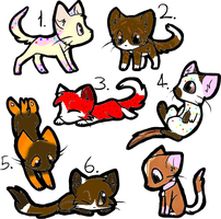 Treat Adoptables (1 left!) by ThatCreativeCat