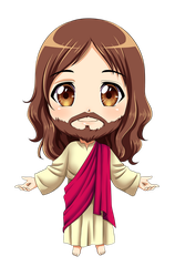 Jesus Chibi (COMMISSION) by KARIS-coba