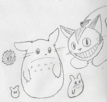 Totoro creatures -incomplete- by lexell-cassini