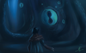 Raziel meets the Elder God by RaikohIllust