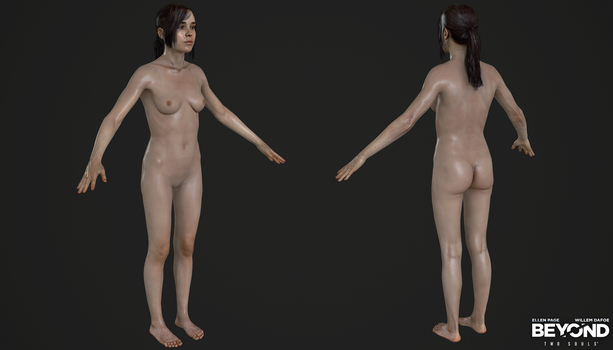 PS3 Beyond Two Souls - Jodie Nude with Long Hair by Crazy31139