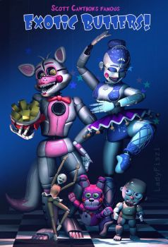 FNAF Sister Location - Exotic Butters! by LadyFiszi