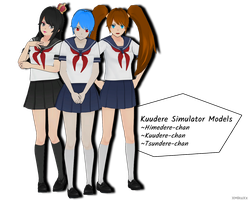 MMD Kuudere Simulator Models Download by XMikuXx