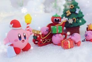 Kirby's Christmas Land by Awesomealexis1