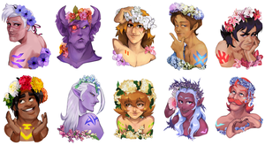 Voltron Flower Crown by Numbird