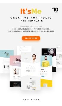 It'sMe - Creative Portfolio PSD Template by webduckdesign
