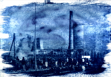 Richborough power station demolition - Cyanotype by thevdm