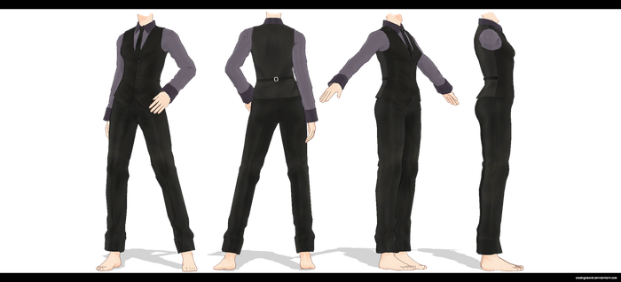 MMD Female suit DL by kaahgomedl