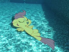 Scootaloo Chillaxing Underwater (Request) by SB1991