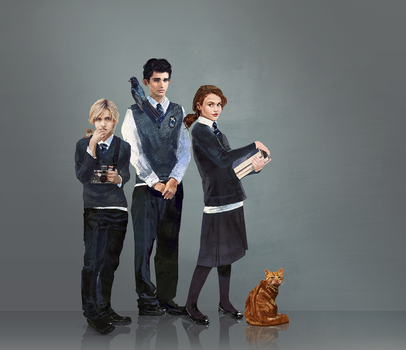 Ravenclaw kids by Roiuky