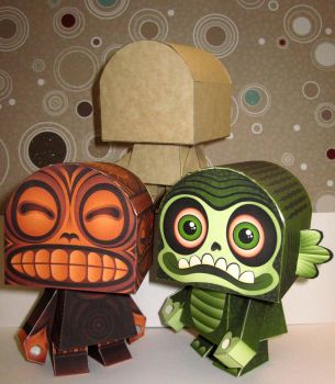 Halloween Paper Toys by Macula