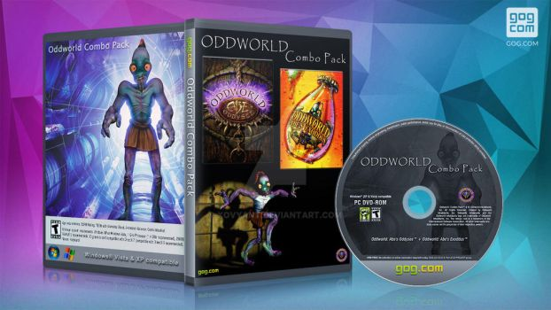 gog cover disc Oddworld Combo Pack 1+2 by XOVYANT