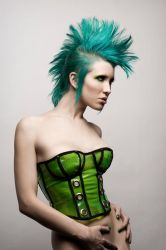 Green Mohawk by Ryo-Says-Meow