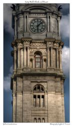 City Hall Clock and Tower by yellowcaseartist