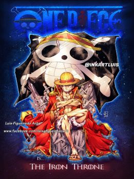 Luffy Pirate King Throne color