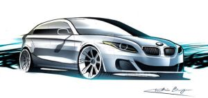bmw 5 rendering by kris-burgos