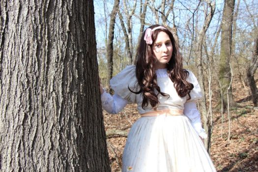 Young Snow White in the Forest: Once Upon a Time by HelLoRosenberg