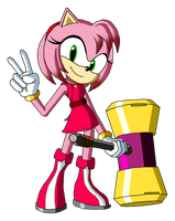 Sonic Reeboot (2016) - Amy Rose by Moheart7