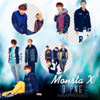 Monsta X PNG PACK by Maxiprenses