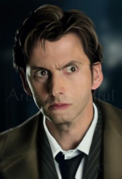 A painting of Dr Who David Tennant by jht888