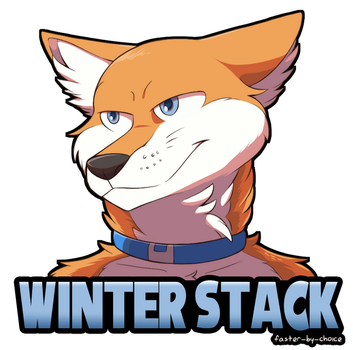 Winter Stack Badge by faster-by-choice
