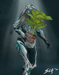 [COM] Ivara with a potted plant by silif-art