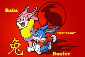 YOTR - Babs and Buster Bunny by Coshi-Dragonite