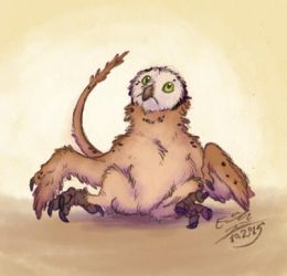 Baby bird monster by Paperiapina