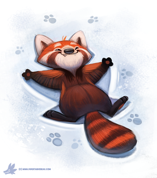 Day 823. OH MY GOSH THAT RED PANDA VIDEO IS CUTE!! by Cryptid-Creations