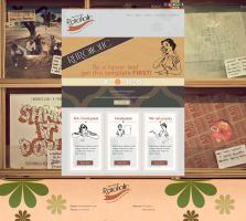 Unfinished Retroholic Web template (PSD included) by 5p34k