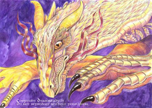 Smaug the Golden by dragonladych
