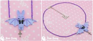 Cute bat Necklace by CuteMoonbunny