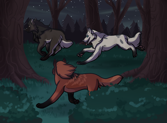 Forest Exploration Collab by Eaglidots