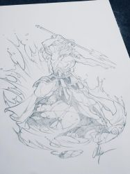 Poseidon drawing by ChuckARTT