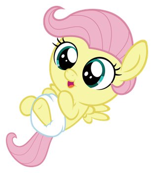 Baby Fluttershy by Comeha