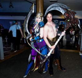 CosXpo 2018 - 135 Ashe and Kayn by cosmicnut