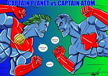 Captain Planet vs Captain Atom by N-Dee